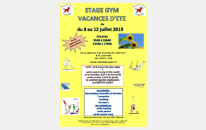 STAGE GYM VACANCES D'ETE